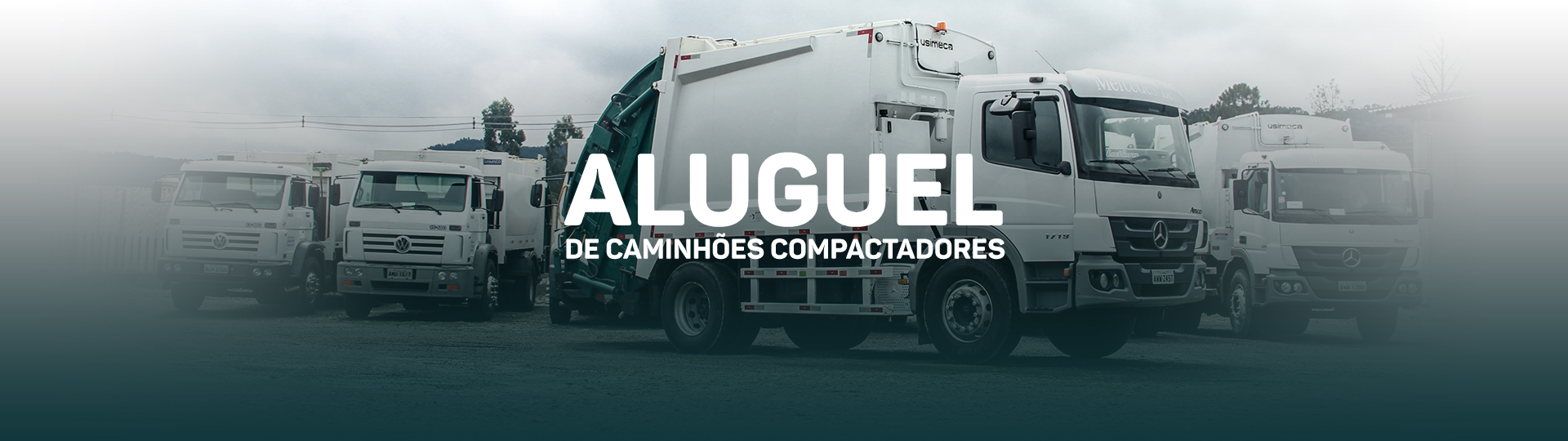 Aluguel de caminhões compactadores